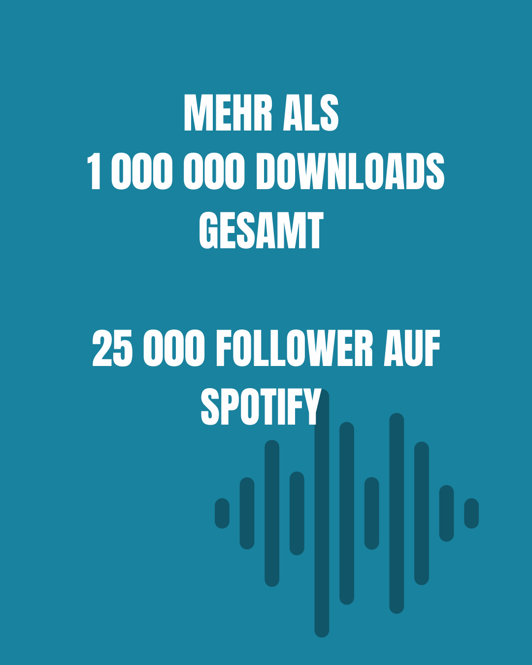 Mehr als eine Million Downloads gesamt, 25 000 Follower auf Spotify